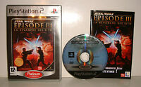 JEU SONY PLAYSTATION 2 PS2 - STAR WARS EPISODE III LA REVANCHE DES SITH COMPLET