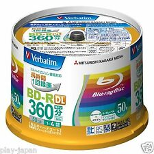 50 Verbatim Mitsubishi blu ray BD-R DL 50GB Cake Box