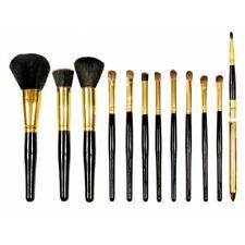 Professional Cosmetic Make Up Brush Set of 12 Pcs Brushes Kit Case Black