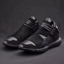 NEW Y3 Qasa High Yohji Yamamoto Light Weight Lace Up Men's Black Trainers Shoes