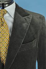 * Paul Stuart By Isaia Espresso Brown Cotton Shaneel Peak Lapel Sport Coat 40R