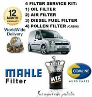 FOR FORD TRANSIT CONNECT 1.8 2002-10/05 SERVICE KIT OIL AIR FUEL POLLEN FILTER