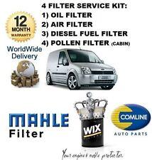 Per FORD TRANSIT CONNECT 1.8 2002-10/05 Kit di Servizio Olio Aria Carburante Polline Filtro
