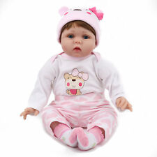 22'' Lifelike Newborn Vinyl Silicone Reborn Doll Handmade Reborn Gift Baby Dolls