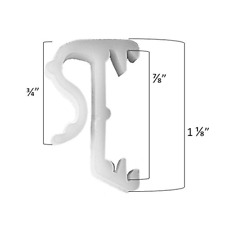 "1"" Mini Blind Single Slat Valance Retainer Clips 15 Pack"