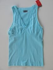 Athleta Blue Eyelet Tank Top Meryl  Skinlife Anti-odor Workout M NWT $59.
