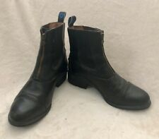 ARIAT HERITAGE IV Zip PADDOCK Black Leather Western Boot RIDING Equestrian W 8.5