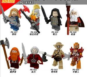 Passt LEGO Hobbit Minifiguren Herr der Ringe Legion der Zwerge Bausteine Dáin