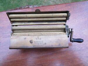 Vintage Cigarette Tobacco Rolling Machine Evans + Cos Patent Concinnum Ex Cond