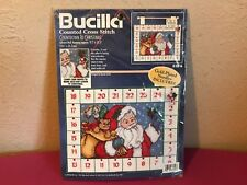 Bucilla Cross Stitch Kit Advent Wall Hanging Calendar Countdown to Christmas