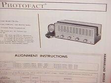 1965 HAMMARLUND CB RADIO SERVICE SHOP MANUAL MODEL CB-SIX (CB-6)