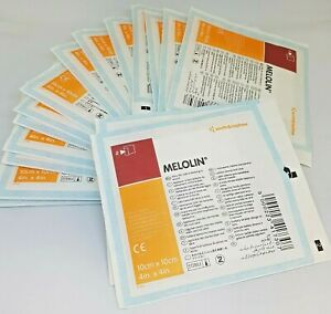 **MELOLIN DRESSING   10cm x 10cm   PACK OF 10   FREE DELIVERY