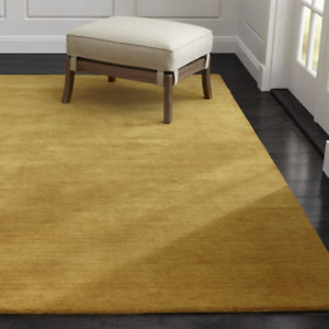 Area Rug 5' x 8' Baxter Bronze Gold Hand Tufted Crate and Barrel Woollen Carpet