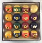 Old Vintage Antique Brunswick Carom Pocket Billiard Pool Ball Set