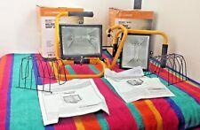 2 Luminar 500 Watt 120 Volt Portable Work / Shop Lights W / Foam Covered Handles