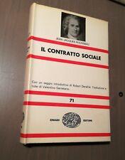 J.J. Rousseau IL CONTRATTO SOCIALE Einaudi nue n. 71 terza ed. 1971