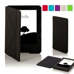 Leather Smart Origami Case Cover for Amazon Kindle Voyage