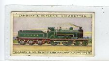 (Jc5191-100)  LAMBERT & BUTLER,WORLDS LOCOMOTIVES(50),GLASGOW & SOUTH,1912,#34