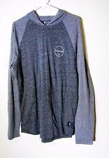 Billabong Mens Gray Hooded Long Sleeve Shirt Size Large