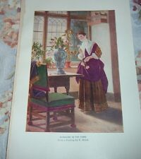 1919 SUNSHINE IN THE HOME from painting by E Meisel Color Print