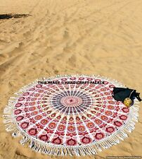 Indian Mandala Round Roundie Beach Throw Tapestry Hippie Boho Gypsy Table Cloth