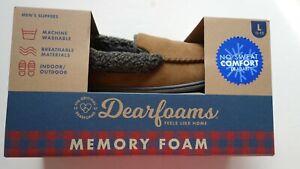 Dearfoams FEELS LIKE HOME MEMORY FOAM NO SWEAT COMFORT DF ADOPT L11-12 Men's Sli