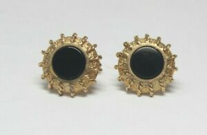 Christian Dior gold tone with Onyx decorated Men's Cufflink