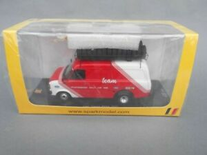 Rare Spark model 1:43 Ford Transit Rally Assistance van Belga 1980s Belgium Duez