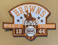 VINTAGE 1944 St. Louis Browns World Series Patch 5inX4in Embroidered Sew On Iron