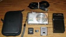 Nikon Coolpix S3300 16.0 MP 6.0x Optical Zoom Lens UVGC Silver Guarantee Bundled
