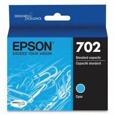 Genuine Epson T702220  (702) Durabrite Ultra Ink, 300 Page-Yield, Cyan EXP 04/23