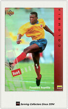 1994 UD World Cup U.S.A Trading Card Hotshot Hologram Card HS6:Faustino Asprilla