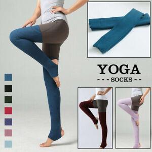 Women Knitted Long Stirrup Socks Over Knee Thigh High Yoga Leggings Leg Warmer