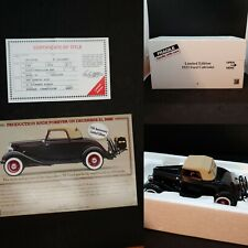 1933 Ford Cabriolet Danbury Mint Limited Edition 1:24 Title Advertisement Box