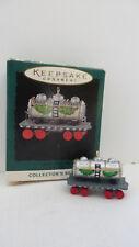 Christmas Hallmark Keepsake 1995 Miniature Milk Tank Car Noel R.R. Ornament