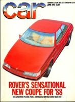 CAR magazine Jun 1985 Rover 800 Coupe Alfa Romeo 75 VW Scirocco Uno Turbo
