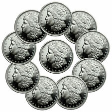 Lot of 10 Morgan Dollar Design 1/2 Troy oz .999 Silver Rounds SKU47540