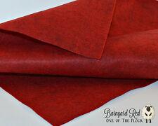 Barnyard Red Merino Wool Felt Fabric Yardage, Penny Rug, Candle Mat, Craft Felt