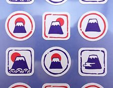 Japanese Mount Fuji stickers! Kawaii Japan Mt. Fujisan cultural stickers, cute