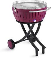 Lotusgrill XXL il barbecue senza fumo versione con ruote colore Porpora  cm.60