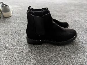 Lilley Womens Black Chelsea Boots Size UK 3