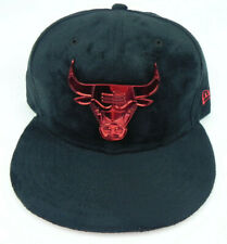 CHICAGO BULLS NBA NEW ERA 59FIFTY RED METAL BADGE FITTED SIZE 7 1/2 HAT CAP NEW!