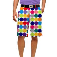 Loudmouth Golf bolas de discoteca para hombre Flat Front Pantalones Cortos Nuevo