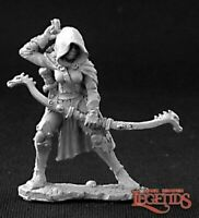 1 x CALLIE ROGUE - DARK HEAVEN LEGENDS REAPER miniature rpg jdr d&d voleur 3255