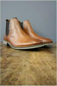 Stanford Tan Leather Chelsea Boots