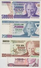 More details for ten turkey & iraq banknotes in near mint condition