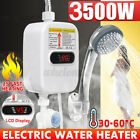 3500W Tankless Hot Water Heater Shower Electric Portable Instant Boiler Bathroom