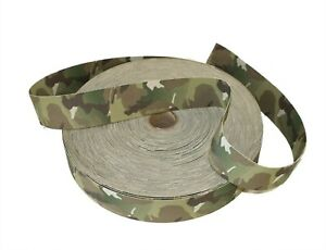 """Double Sided Crye Multicam MTP Camouflage Military Spec 1 yard 50mm/ 2"""" Webbing"""