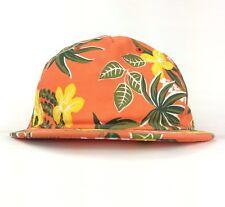 3596b9b4c25 VANS Tropical Flower Allover Print Pattern Orange Baseball Cap Hat Adj  Adult Sz