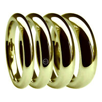 9ct Yellow Gold Court Wedding Rings 2mm 3mm 4mm 5mm 6mm 375 UK HM X Heavy Band